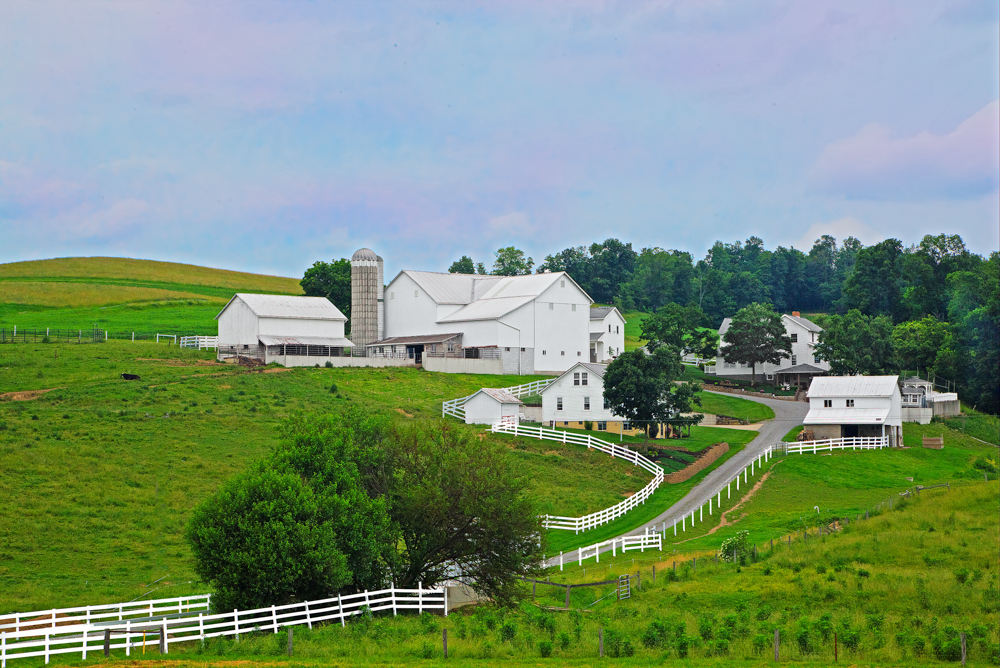 Ohio Fine Art Photography Amish White Barn and Farmland