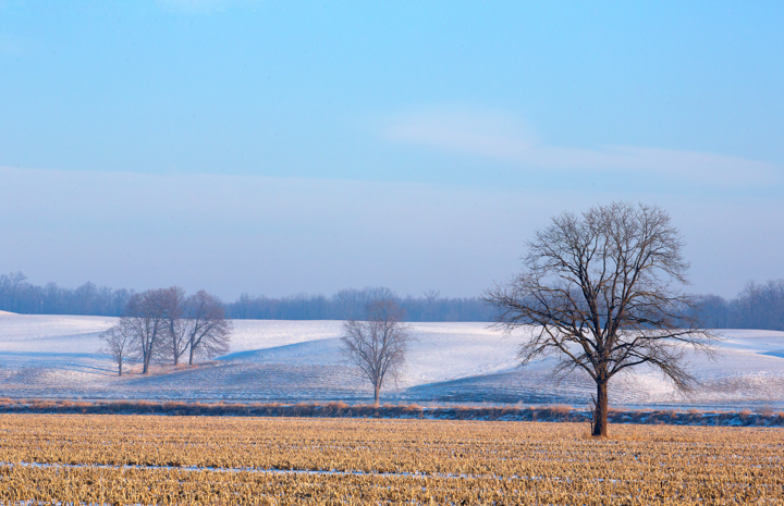 Winter Scenery Ohio Farmland Photography